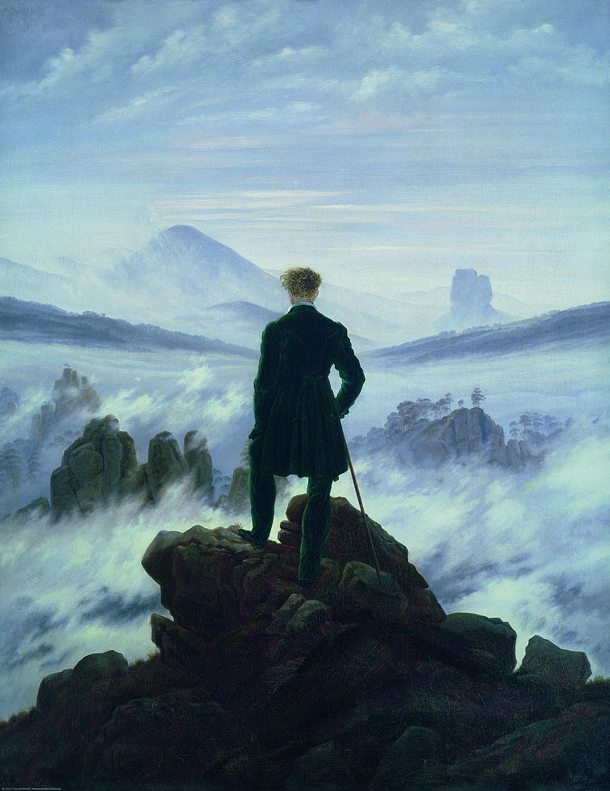 """Kunstdruck """"Wanderer über dem Nebelmeer"""" von Friedriech"""