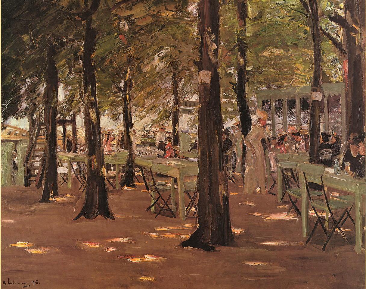 """Kunstdruck """"Das Cafe"""" Max Liebermann"""