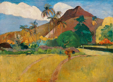 "Kunstdruck ""Berge auf Tahiti"" von Paul Gauguin"