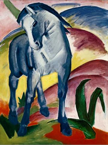 """Kunstdruck """"Blaues Pferd"""" von Franz Marc"""