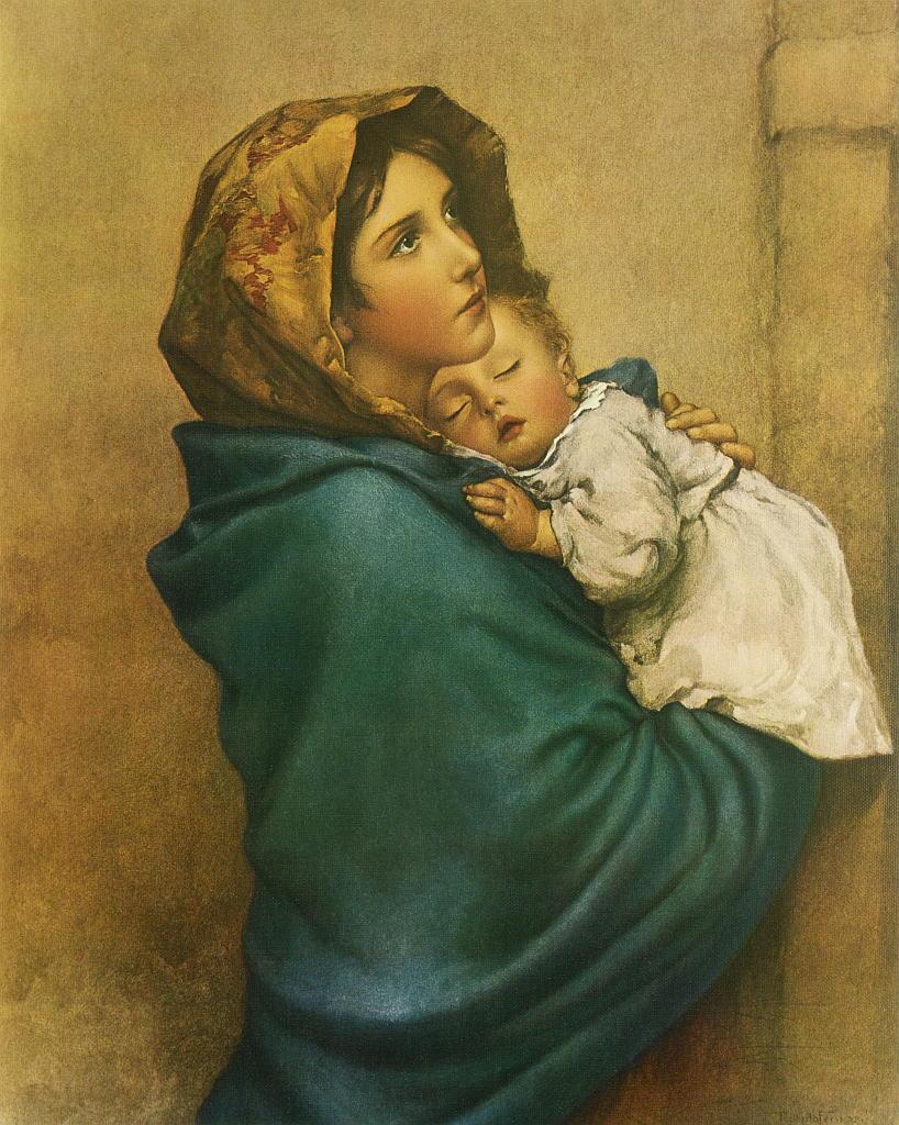 """Kunstdruck """"Madonna"""" von Roberto Ferruzzi"""