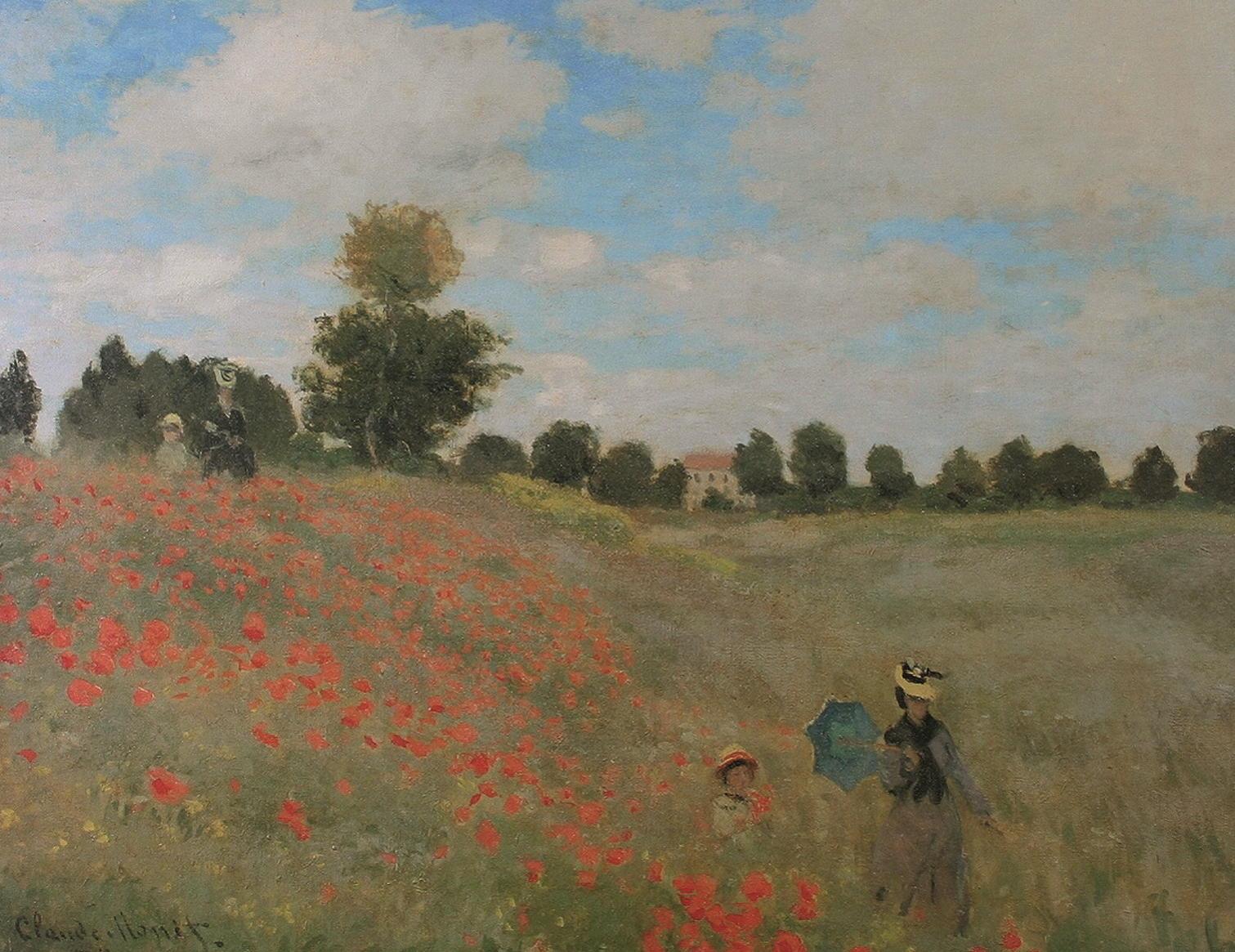"""Kunstdruck """"Mohnblumen"""" von Claude Monet"""