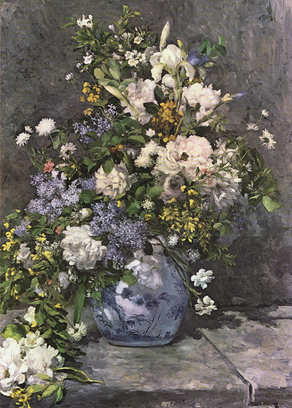 """Kunstdruck """"Blumenvase"""" vonAuguste Renoir"""