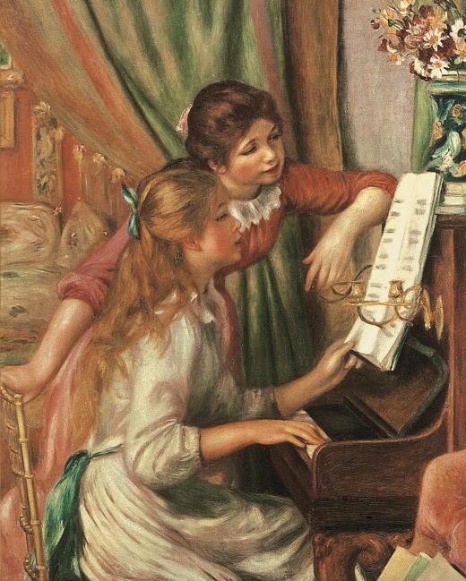 RE-015 Zwei Maedchen am Klavier_RL