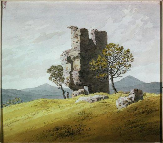 "Caspar David Friedrich ""Turmruine""  21 x 18 cm 1"