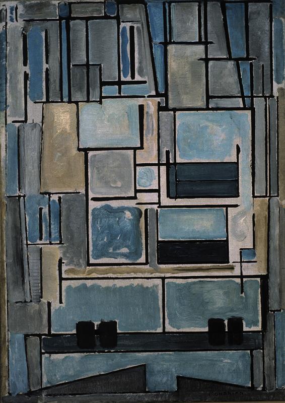 "Piet Mondrian ""Compositie Blue Facade"" 95 x 67 cm"