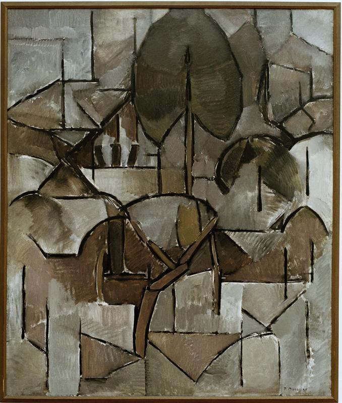 """Piet Mondrian """"Landschaft mit Bäumen"""" 120 x 100 cm"""