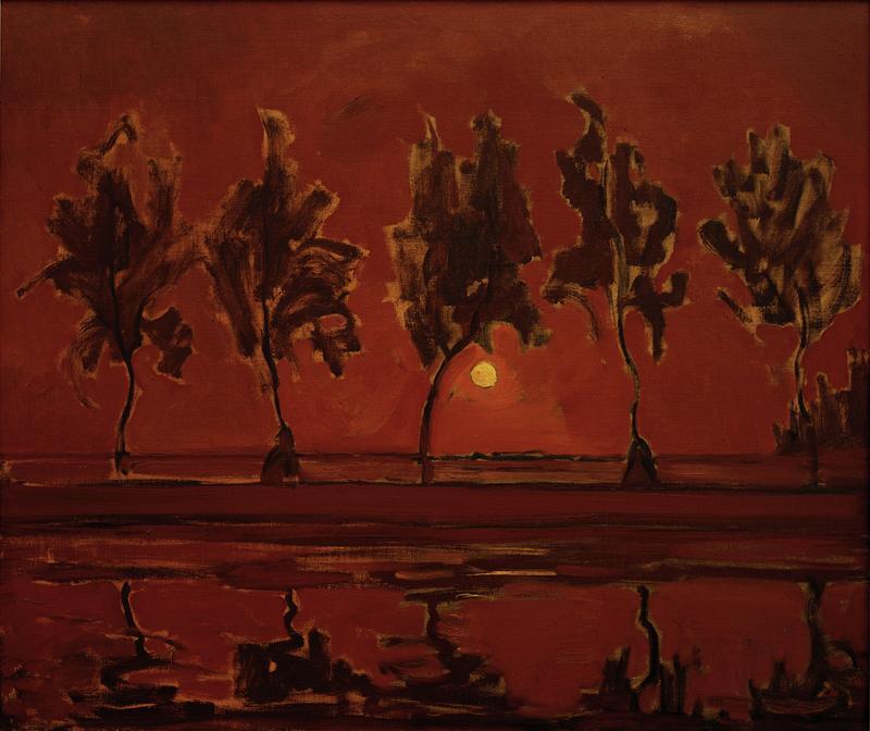 "Piet Mondrian ""Trees on the Gein Moonrise"" 79 x 92 cm"