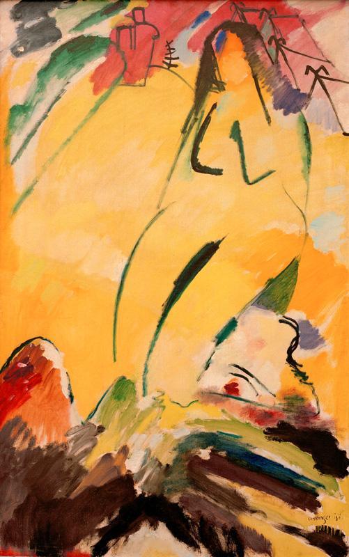 """Wassily Kandinsky """"Akt"""" 99 x 147 cm 1"""