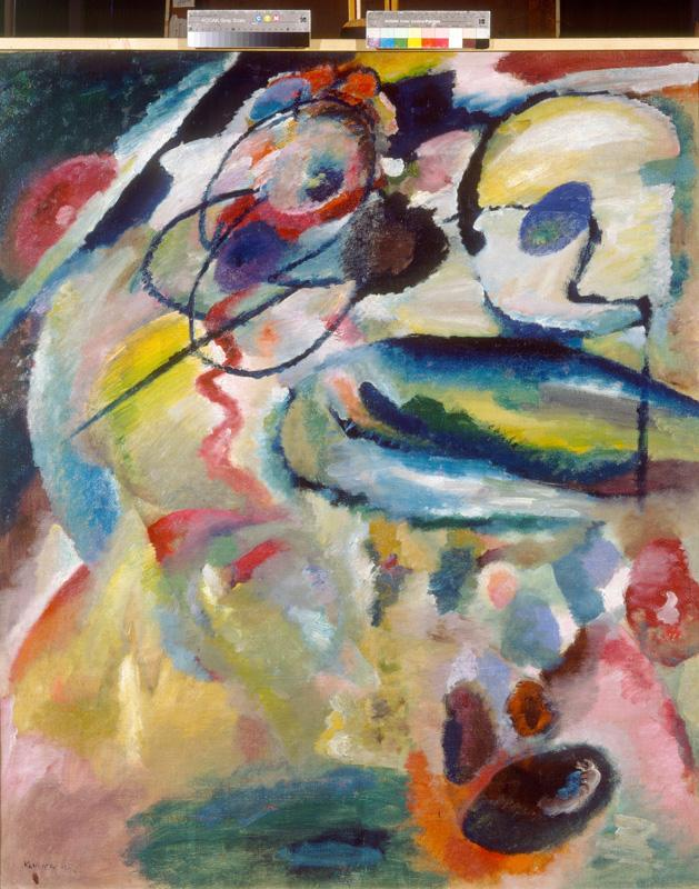 "Wassily Kandinsky ""Picture With A Circle"" 111 x 139 cm"