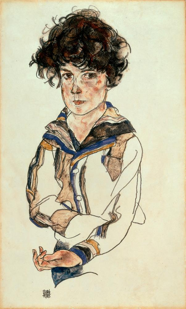 "Egon Schiele ""Knabenporträt"" 27 x 46 cm"