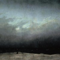 "Caspar David Friedrich ""Der Mönch am Meer""  171 x 110 cm"