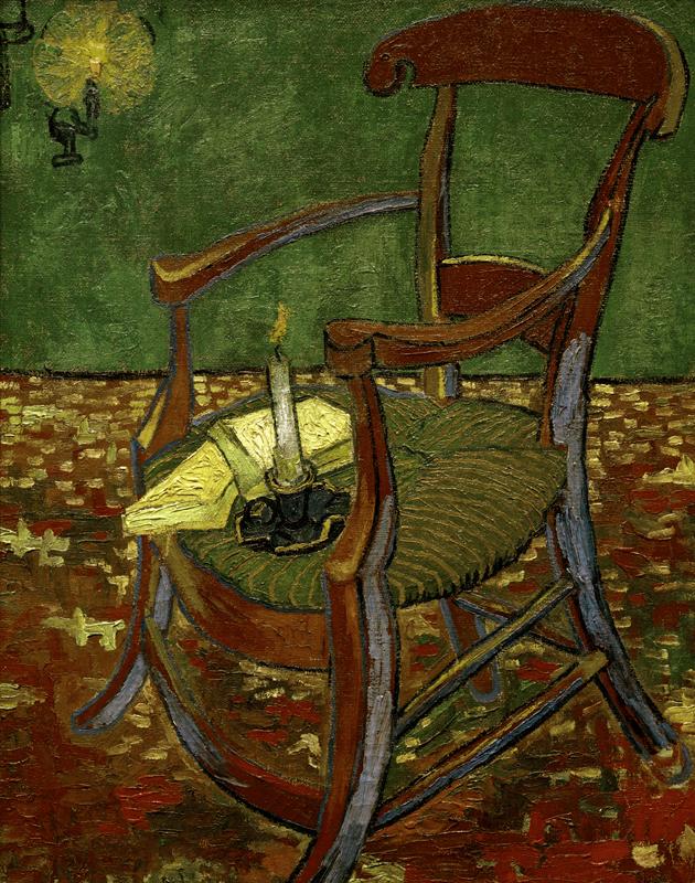 Kunstdruck Gauguins Stuhl Von Vincent Van Gogh