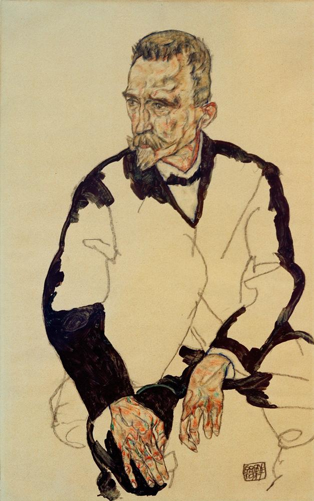 """Egon Schiele """"Bildnis Heinrich Benesch"""" 29 x 46 cm"""