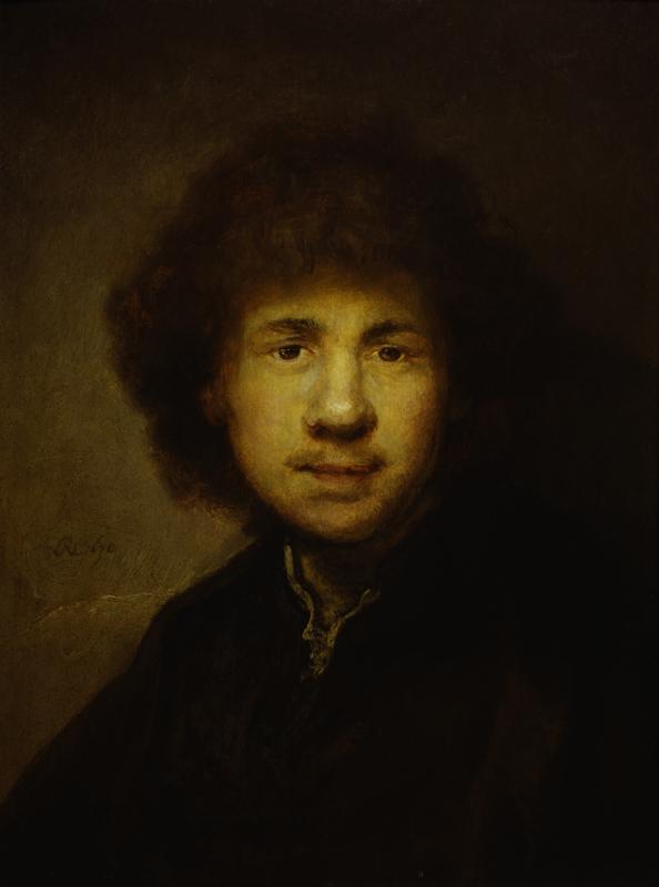 "Rembrandt ""Rembrand-Selbstbildnis"" 41.2 x 33.8 cm"