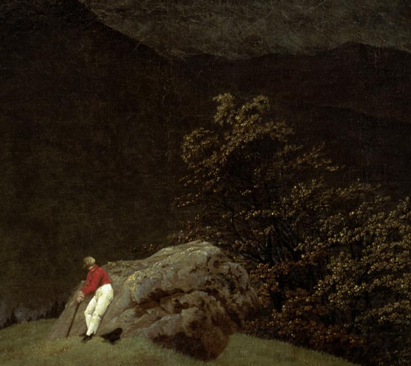 """Caspar David Friedrich """"Gebirgslandschaft mit Regenbogen""""  102 x 70 cm"""