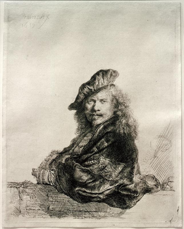 """Rembrandt """"Rembrand-Selbstbildnis-mit-aufgelehntem-Arm"""" 127 x 117 cm"""