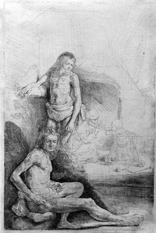 """Rembrandt """"Zwei-männliche-Akte-sowie-Mutter-und-Kind"""" 145 x 134.9 cm"""