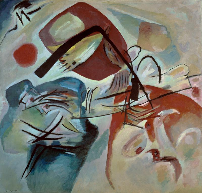 """Wassily Kandinsky """"Mit Dem Schwarzen Bogen"""" 198 x 188 cm"""