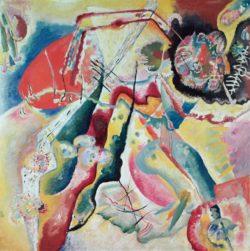 "Wassily Kandinsky ""Roter Fleck"" 130 x 130 cm"