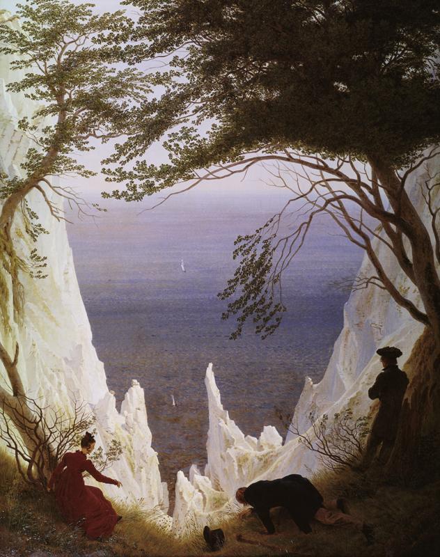 "Caspar David Friedrich ""Kreidefelsen auf Rügen""  71 x 90 cm"