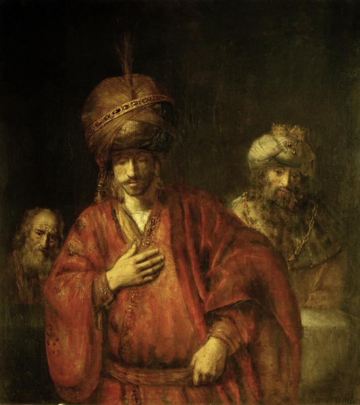 "Rembrandt ""Haman-in-Ungnade"" 76 x 56 cm"