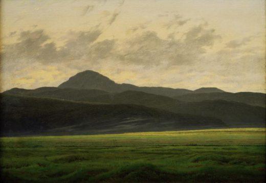 """Caspar David Friedrich """"Berglandschaft in Böhmen""""  48 x 35 cm 1"""
