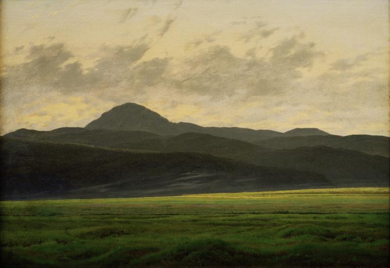 """Caspar David Friedrich """"Berglandschaft in Böhmen""""  48 x 35 cm"""
