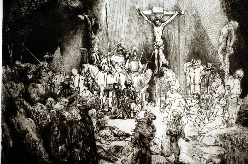 "Rembrandt ""Kreuzigung"" 23.8 x 18.8 cm"