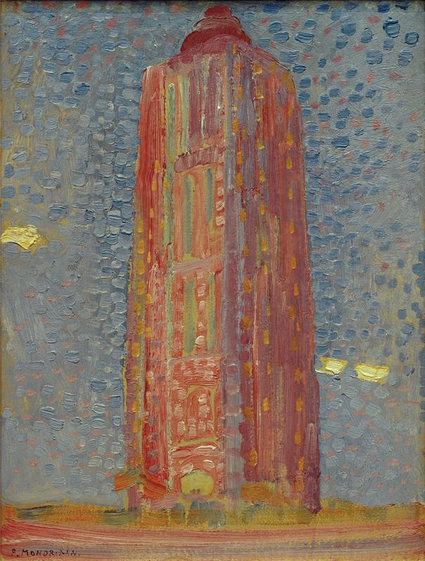 "Piet Mondrian ""Leuchtturm bei Westkapelle"" 39 x 29 cm"