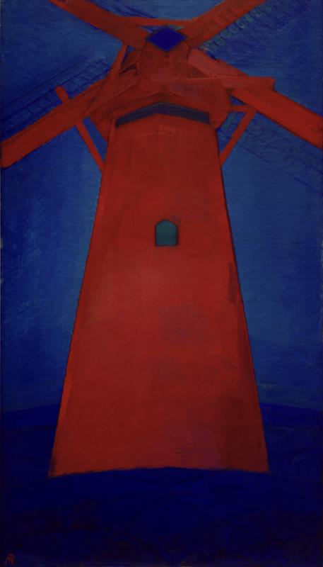 "Piet Mondrian ""Mühle Rote Mühle in Domburg"" 150 x 86 cm"