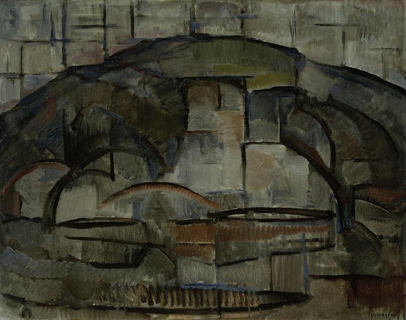 """Piet Mondrian """"Paysage"""" 63 x 78 cm"""