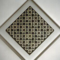 """Piet Mondrian """"Komposition mit grauen Linien Composition with Grid"""" 84 x 84 cm"""