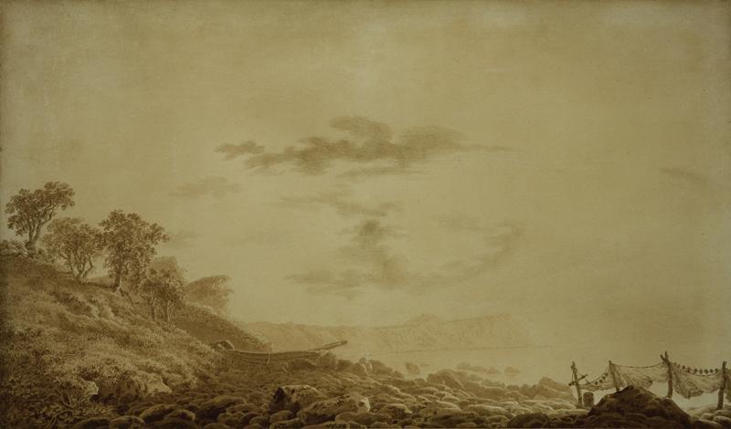 """Caspar David Friedrich """"Blick auf Arkona bei Mondlicht""""  69 x 41 cm"""
