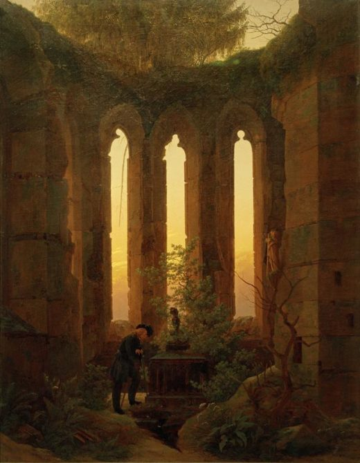 "Caspar David Friedrich ""Huttens Grab""  73 x 93 cm 1"