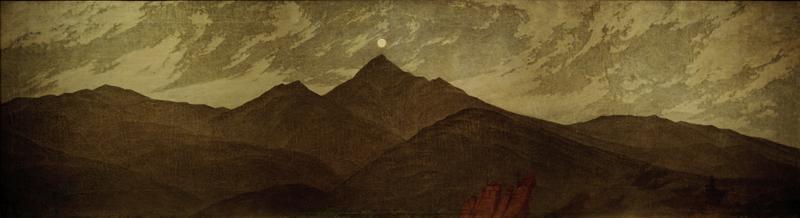 """Caspar David Friedrich """"Mond über dem Riesengebirge""""  167 x 47 cm"""