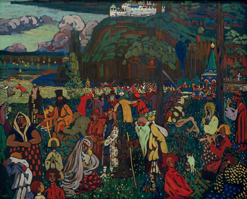 "Wassily Kandinsky ""Das Bunte Leben"" 162 x 130 cm"