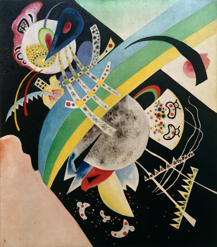 "Wassily Kandinsky ""Kreise Auf Schwarz"" 120 x 136 cm"