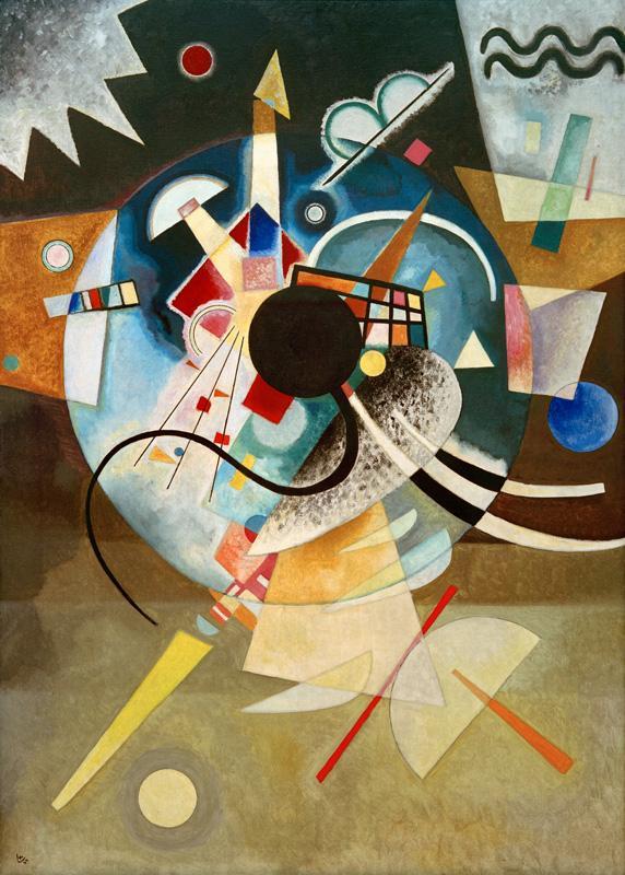 """Wassily Kandinsky """"Ein Zentrum"""" 99 x 140 cm"""
