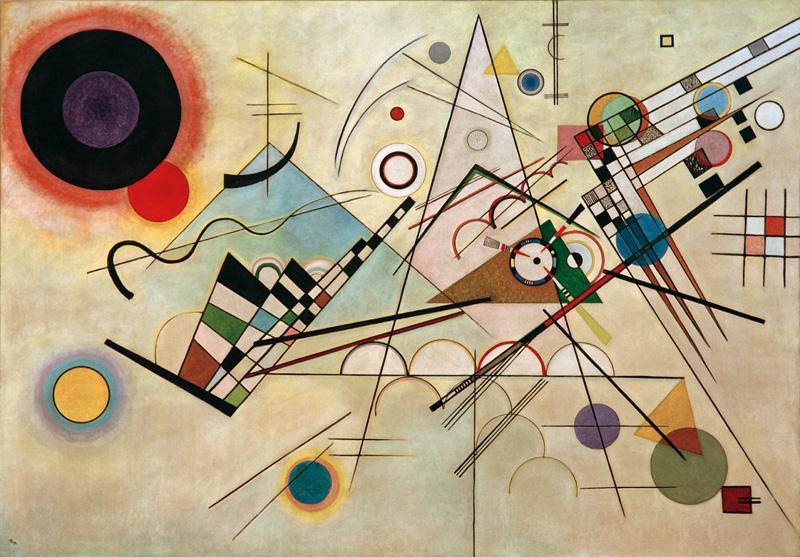 "Wassily Kandinsky ""Komposition"" 201 x 140 cm"