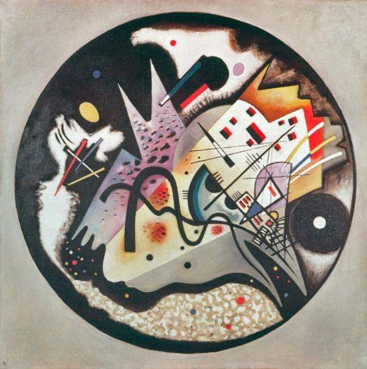 """Wassily Kandinsky """"Dans Le Cercle Noir"""" 130 x 130 cm"""