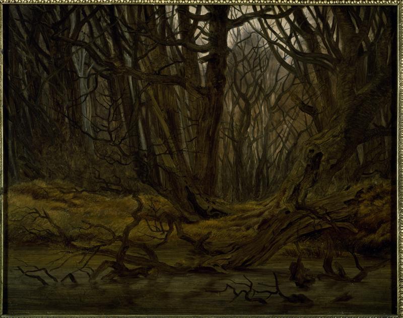 """Caspar David Friedrich """"Wald im Spätherbst""""  44 x 35 cm"""