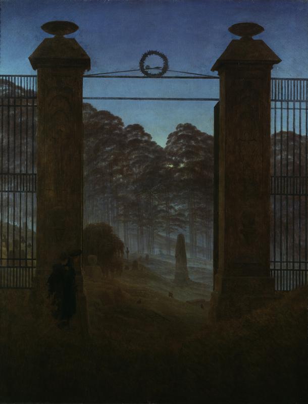 "Caspar David Friedrich ""Der Friedhof""  111 x 144 cm"