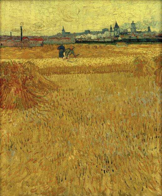 """Vincent van Gogh """"Weizenfeld mit Blick auf Arles"""", 73 x 59 cm 1"""