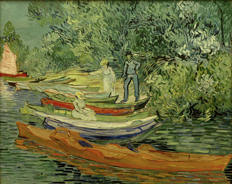 "Vincent van Gogh ""Am Ufer der Oise in Auvers"" 73,3 x 93,7 cm"