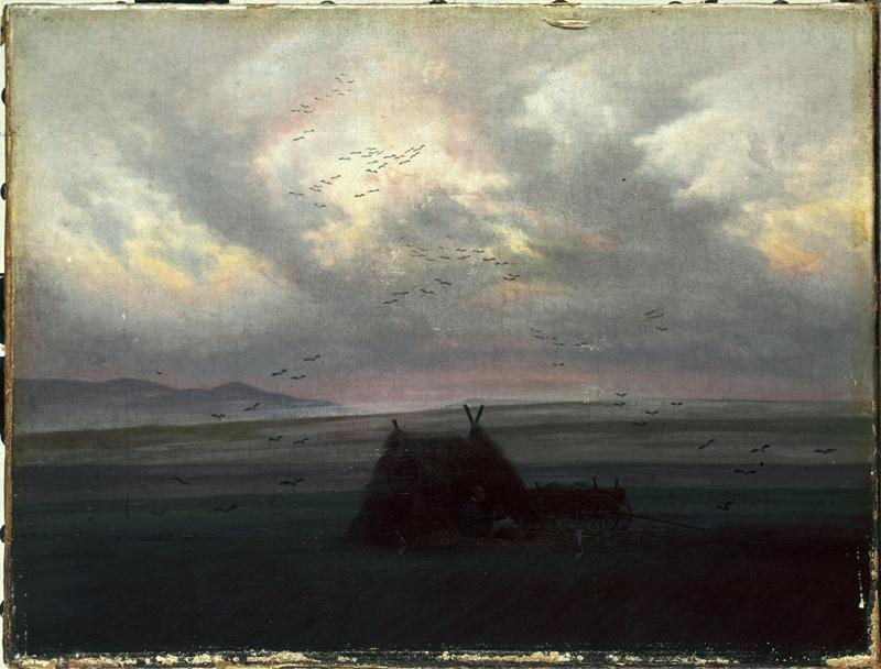 """Caspar David Friedrich """"Nebelschwaden""""  42 x 32 cm"""