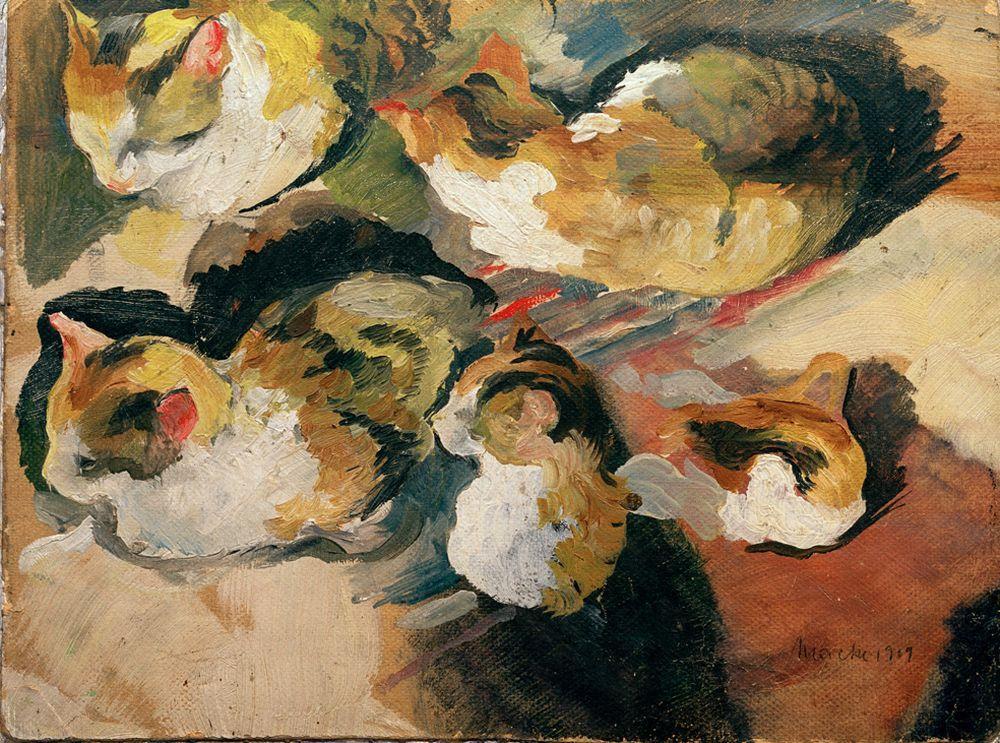 """August Macke """"Katzenstudien"""" 22 x 16 cm"""