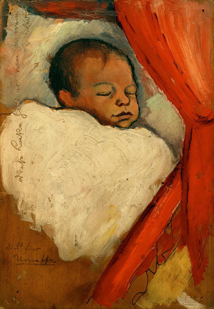 "August Macke ""Walter, drei Tage alt"" 16 x 22 cm"