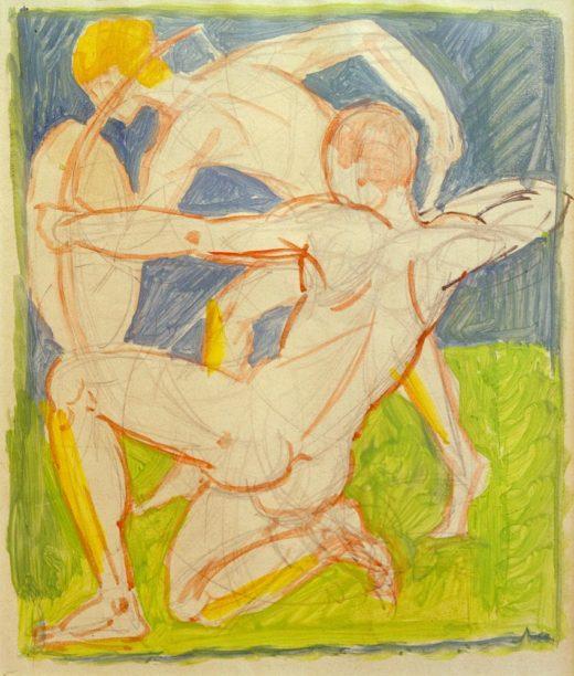 """August Macke """"Bogenschütze"""" 20 x 26 cm 1"""