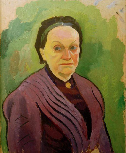 """August Macke """"Porträtstudie Katharina Koehler"""" 49 x 61 cm 1"""